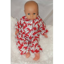 16-18inch Dolls Pyjamas - Red Teddies