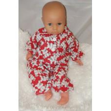 16-18inch Dolls Pyjamas - Red Teddies