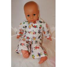 16-18inch Dolls Pyjamas - White Robots