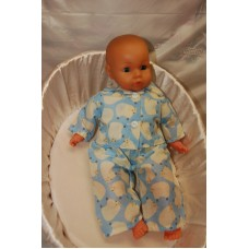 12-14inch Dolls Pyjamas - Blue Counting Sheep