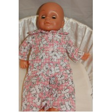 12-14inch Dolls Pyjamas - Pink Teddies
