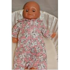 12-14inch Dolls Pyjamas - Pink Teddies