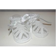 Girls Sandals White - Size 0-3months
