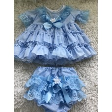 Spanish Style Dress & Pants set - Blue Spot