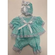 MInt Fleur Dress & Pants Set - Premature/14inch doll
