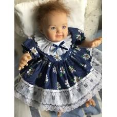 Navy Daisy Dress & Pants set