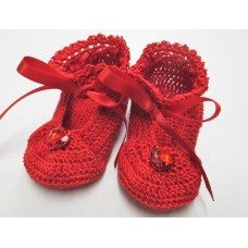 Little Lady Ruby Slippers - Size 0-3months