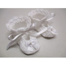 Susans Shell Shoes - White - Size 0-3months