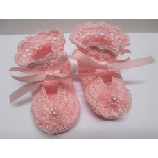 Susans Shell Shoes - Pink - Size 0-3months