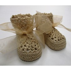 Heirloom lace Cream/Gold - Size 0-3months
