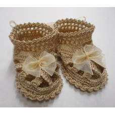 Girls Sandals Vintage Cream/Gold - Size 0-3months