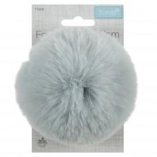 Faux Fur Pom Pom Light Blue