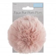 Faux Fur Pom Pom Pink