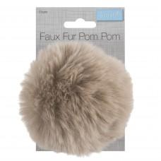 Faux Fur Pom Pom Natural
