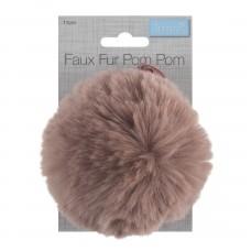 Faux Fur Pom Pom Dusky Pink