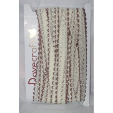 Knit in Lace - Cream/Brown
