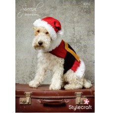Stylecraft Xmas Dog Coat 9310