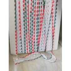 Knit in Lace - White/red/green