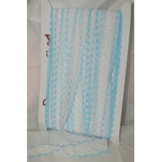 Knit in Lace - White/blue