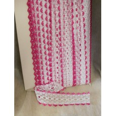 Knit in Lace - White/Cerise