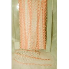 Knit in Lace - White/Peach