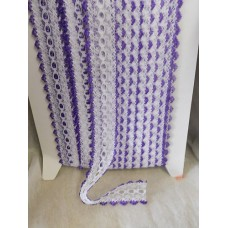 Knit in Lace - White/purple